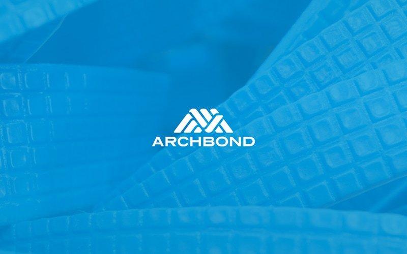archbond logo blue background